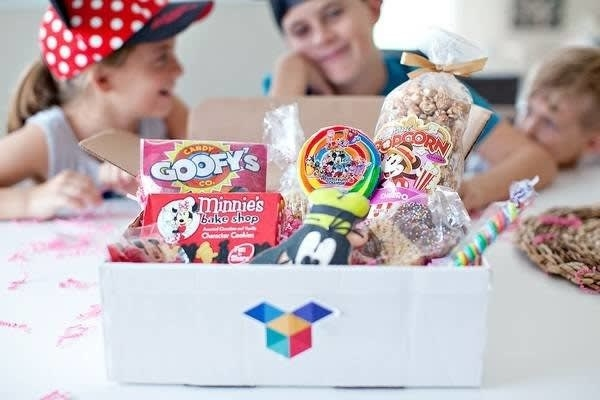 What you'll get: Choose between three box sizes — the mini box (three to four items), the original box (four to seven items), or the premium box (10–15 items). Each box includes authentic snacks right from Disney World such as Main Street Popcorn, Goofy Candy Bags, Mickey Rice Krispy Treats, Cake Pops, Character Cookies, decorated candy apples, and more! They also occasionally throw in other fun items such as park buttons, brochures, and maps.Get it from Cratejoy: Goodie Box Mini for $30/month, Goodie Box Original for $60/month, or Goodie Box Premium for $110/month.