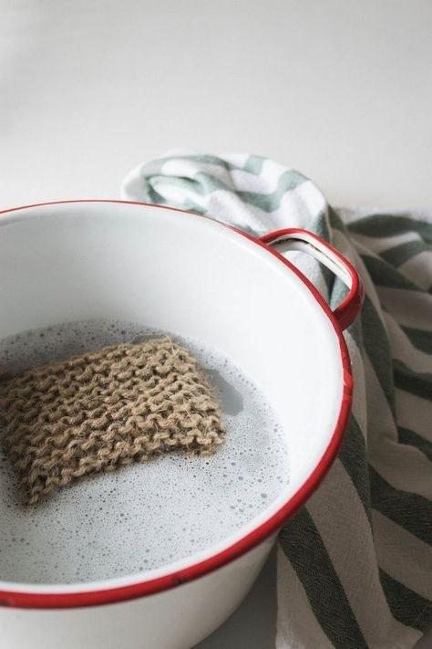 DIY Twine Dish Scrubbies Instructions