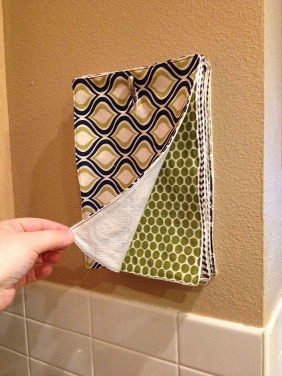 DIY Reusable Paper Towels Instructions
