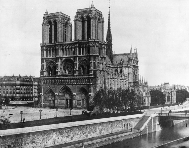 Notre Dame cathedral pictured in 1911.