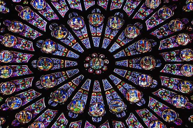 The Rose window at the Cathedral.