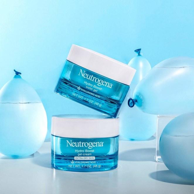 Neutrogena's Hydro Boost moisturizer in gel cream and water gel options