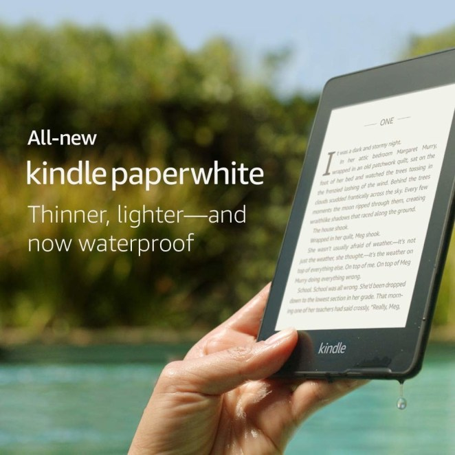 """It looks like real paper even in the brightest sun but also has an adjustable backlight for any dim conditions. It also comes with Audible, so she can listen to audiobooks using bluetooth headphones, and only needs charged every few weeks. Promising review: """"I am an avid reader and adore the Paperwhite! To me, it's the perfect reader. No light bleed through, easy to control the amount of backlight, easy to download books and simply read them. Using Overdrive on my phone, it's easy to borrow and return books from my library. The newest update even allows you to return right from your Paperwhite. As a Prime Member, I get a free book every month. The weight's significantly less than a paperback, even with a case. I am happy with this purchase!"""" —Sherrie ThurmanGet it on Amazon for $129.99+ (available in 8 or 32 GB)."""