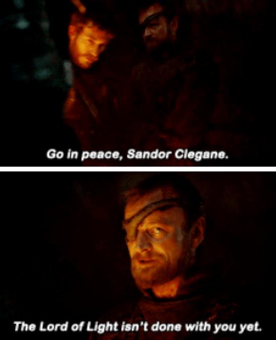 La primera vez que se lo dice es en la temporada 3, en una escena donde Arya estaba presente y eso NO era una coincidencia
