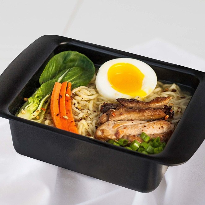"Promising review: ""This thing may seem like just an ordinary Tupperware, but I assure you it will blow that thin plastic garbage out of the water. It retains heat amazingly and does not bend or falter under extreme temperatures. I'm a college student and I have never felt such joy from making ramen in my small dorm microwave, for a 900 watt I recommend five minutes. Buy this product if you live and breathe air, because it is beautiful."" —TheronGet it from Amazon for $5.99+ (available in two colors)."