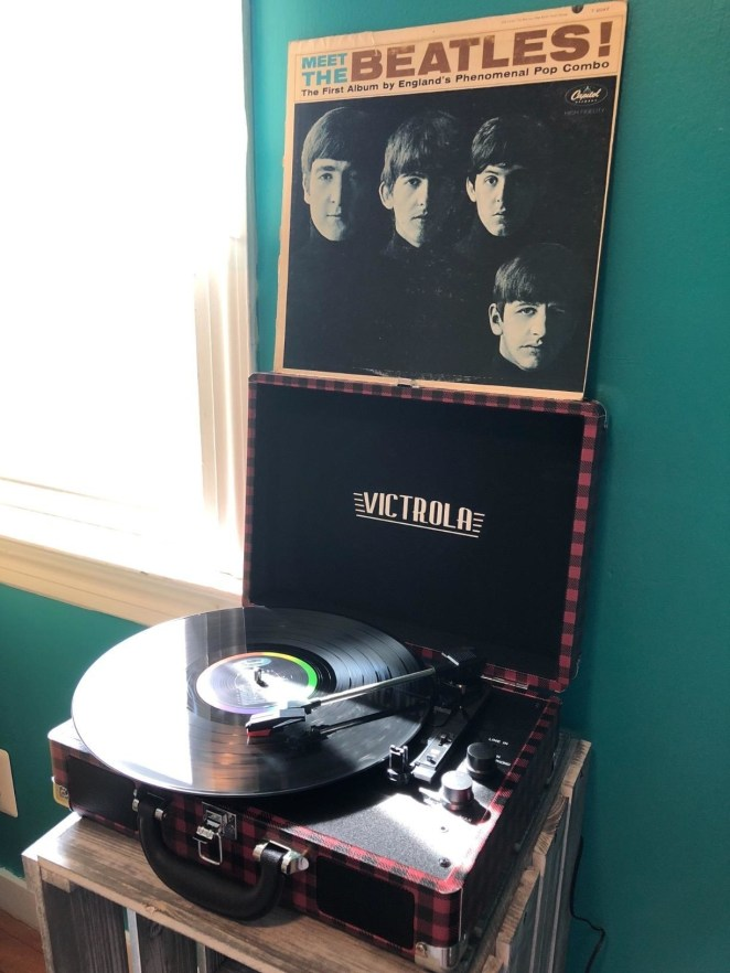 """Need some records to go with? My dad recommends Miles Davis's Kind of Blue ($19.99 on Amazon), Pink Floyd's The Wall, Led Zeppelin IV ($23.35 on Amazon), and The National's High Violet ($22.98 on Amazon). Promising review: """"A very sturdy product and built to last. It is very well designed and great for the price. I love how it is easy to travel with. It was a Father's Day gift and my dad loved it."""" —T. FicklenGet it from Amazon for $49 (available in 21 colors and patterns)."""