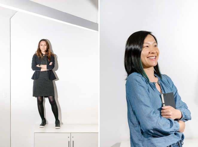 Left: Sara Haider, director of product management. Right: Lisa Ding, senior product designer.