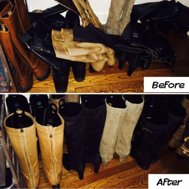 """These versatile shapers can be customized to fit ankle, calf, and knee-high boots!Promising review: """"These are simple shapes of die-cut black plastic that you bend and insert into boots to keep them upright. The plastic has enough springiness that they expand to the width of the boot, and also a slight ribbing on one side (the side you put facing the boots) so they don't slip. Height is adjustable for short, medium, and tall boots!"""" —PKGet them from Amazon for $8.04."""