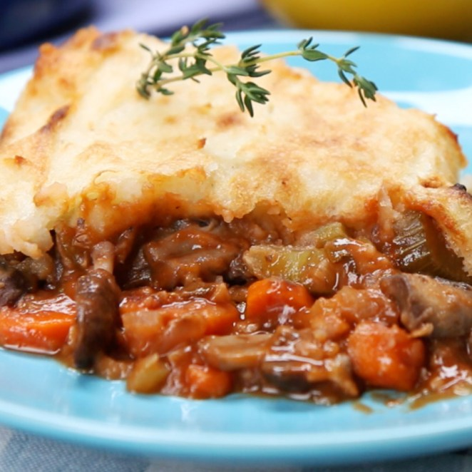 Vegan butter and soy milk make this dish so tasty that you'll basically inhale it. Get the shepherd's pie recipe here.