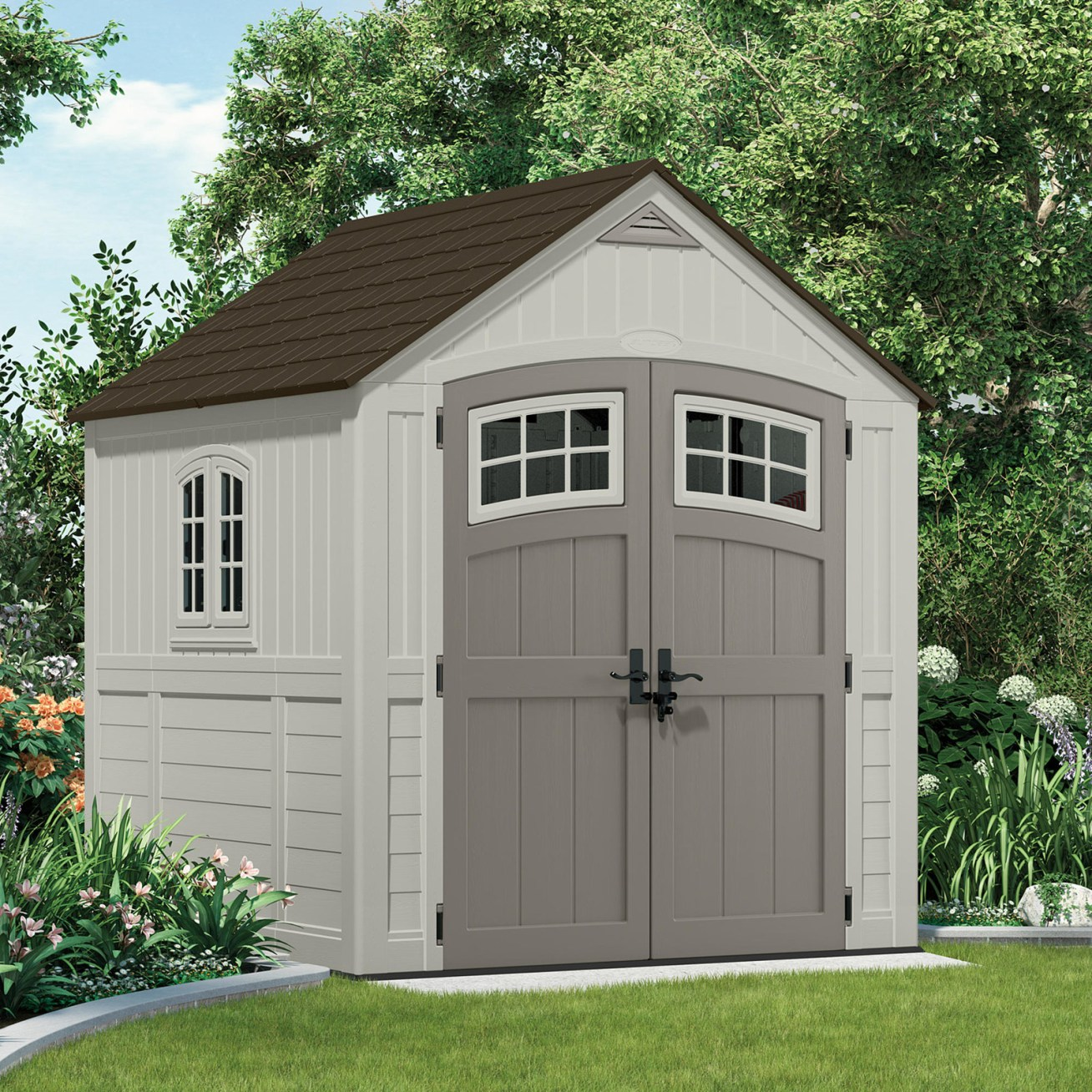 """Promising review: """"My handyman and his assistant put the shed together in three hours. It looks great and meets my expectations for a sturdy, durable, strong, non-wood shed."""" —suznutPrice: 9.99"""