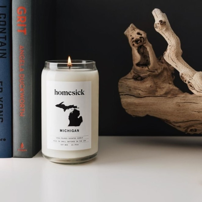 Get a state candle from Amazon or Homesick for $29.95, or see more options like cities, countries, and memories on Homesick's website.