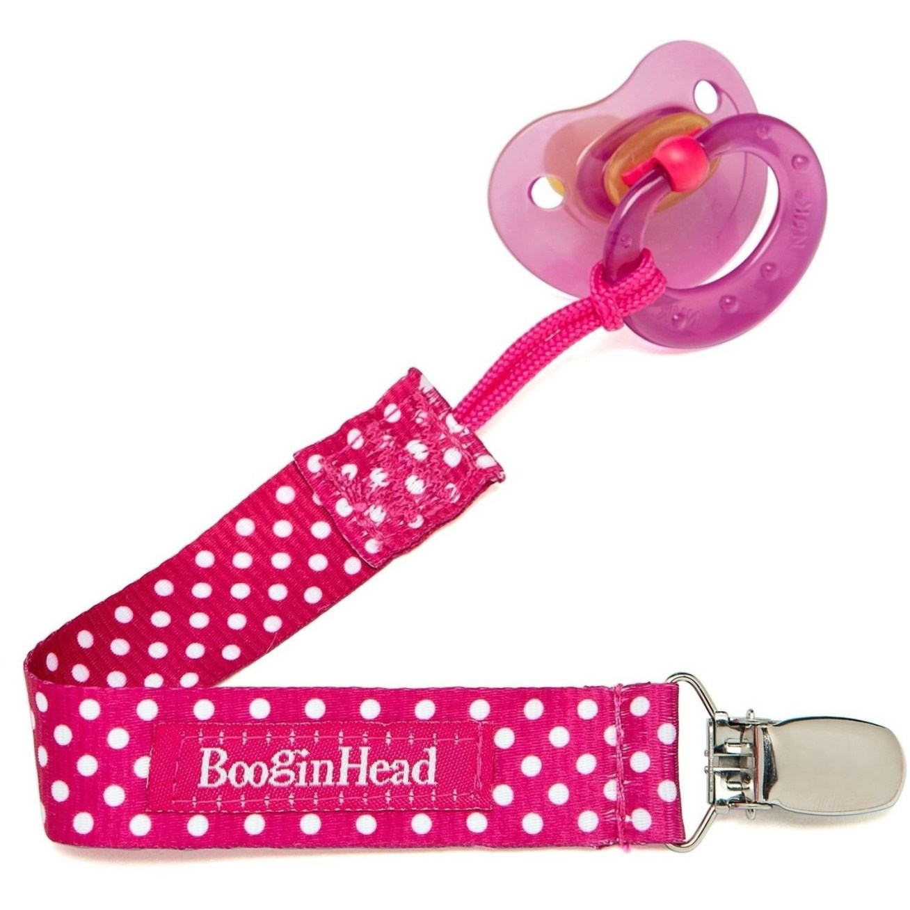 """Promising review: """"I really like this clip, the cord part is actually a strong rope cord, works great. We had a Velcro attachment to the pacifier on our previous clip and my daughter kept yanking the pacifier off and it would fall out of her crib. I like this because she can't take it off anymore... which means I get more sleep!"""" —robbibirdGet it from Walmart for .96+ (six colors/patterns)."""