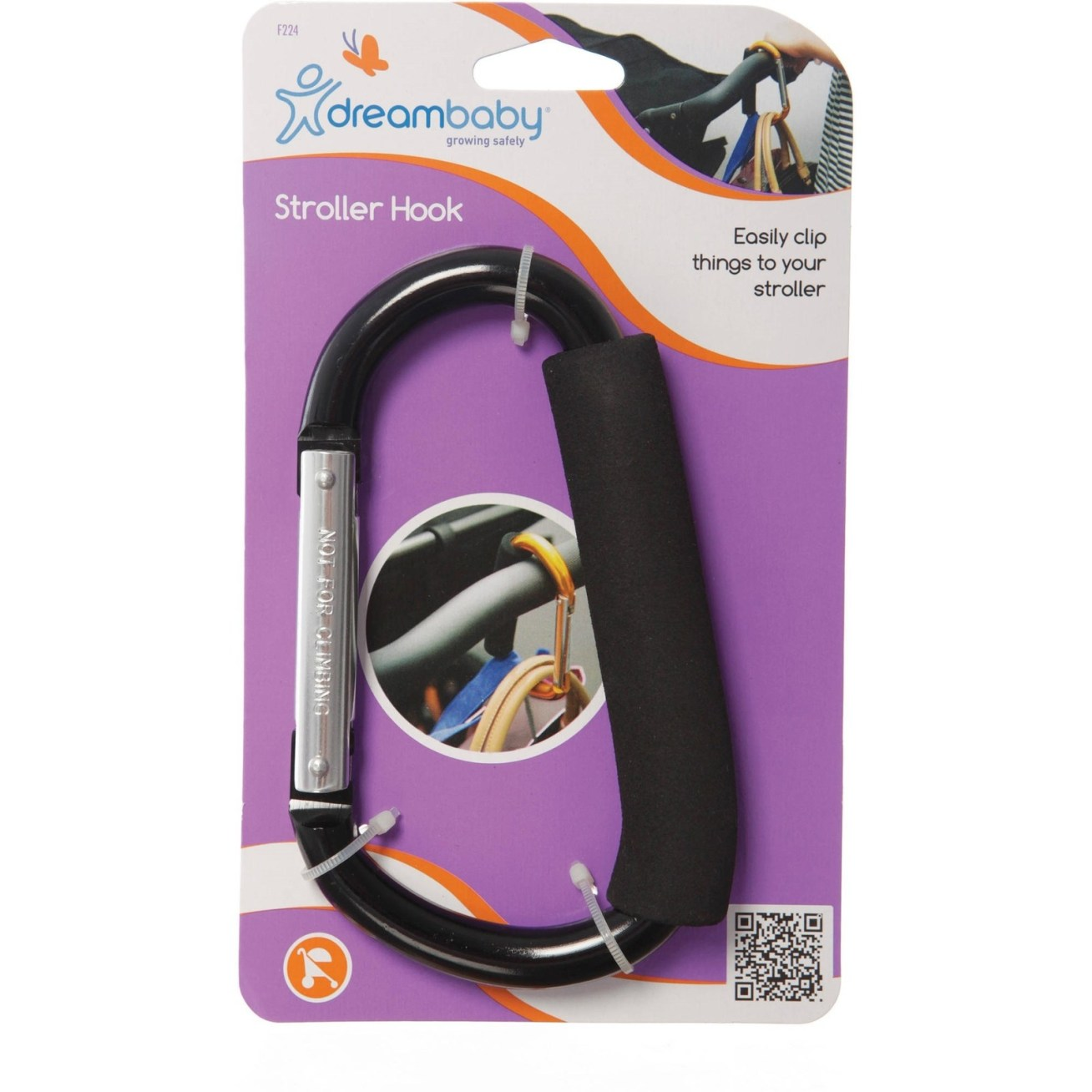 """Promising review: """"This hook is a convenient tool to add bags and paraphernalia to your baby carriage. Easy to use, it simply hooks onto the carriage and bingo! You can now attach any bag to your hook. A must-have for all moms carrying lots of baby gear!"""" —jknopGet it from Walmart: the single pack for  or a value pack with a second, smaller clip for .20. (Why the price discrepancy? ¯\_(ツ)_/¯ but I'll take it!)"""