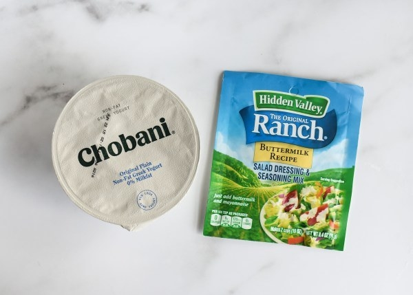 "Missing the ranch? ""Get plain Greek yogurt and mix in a packet of the instant ranch dip. A lot of ranch for a lot less calories.""- ignitelight"