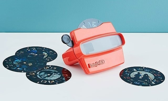A classic reel viewer with reels featuring custom photos