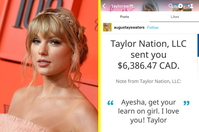 Image result for taylor swift donates money