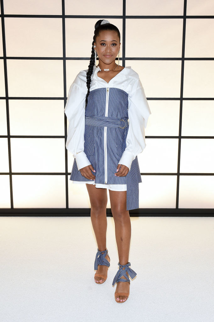 Naomi Osaka posing at a Hollywood event.
