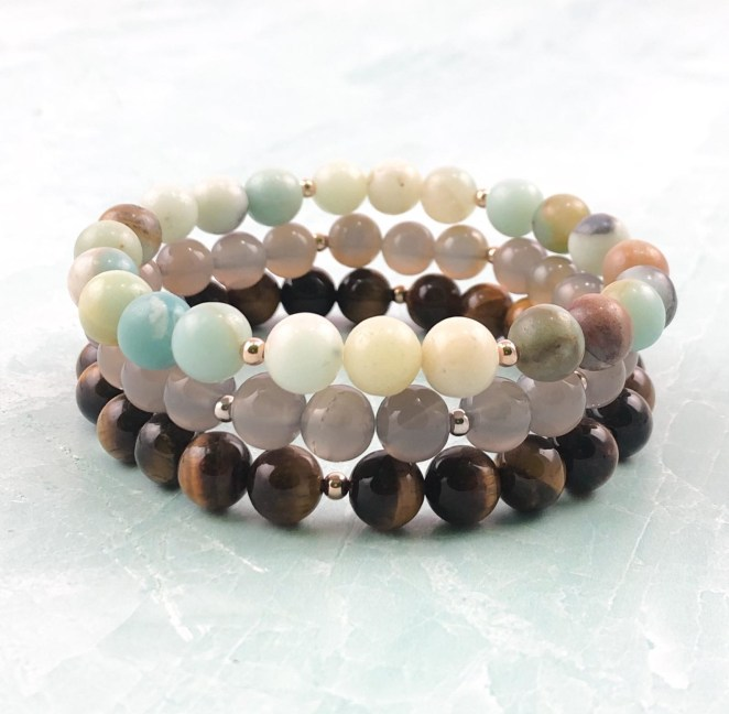 the three stone bracelets