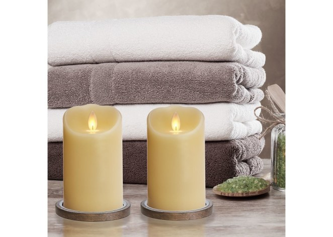 Flameless candles in a home
