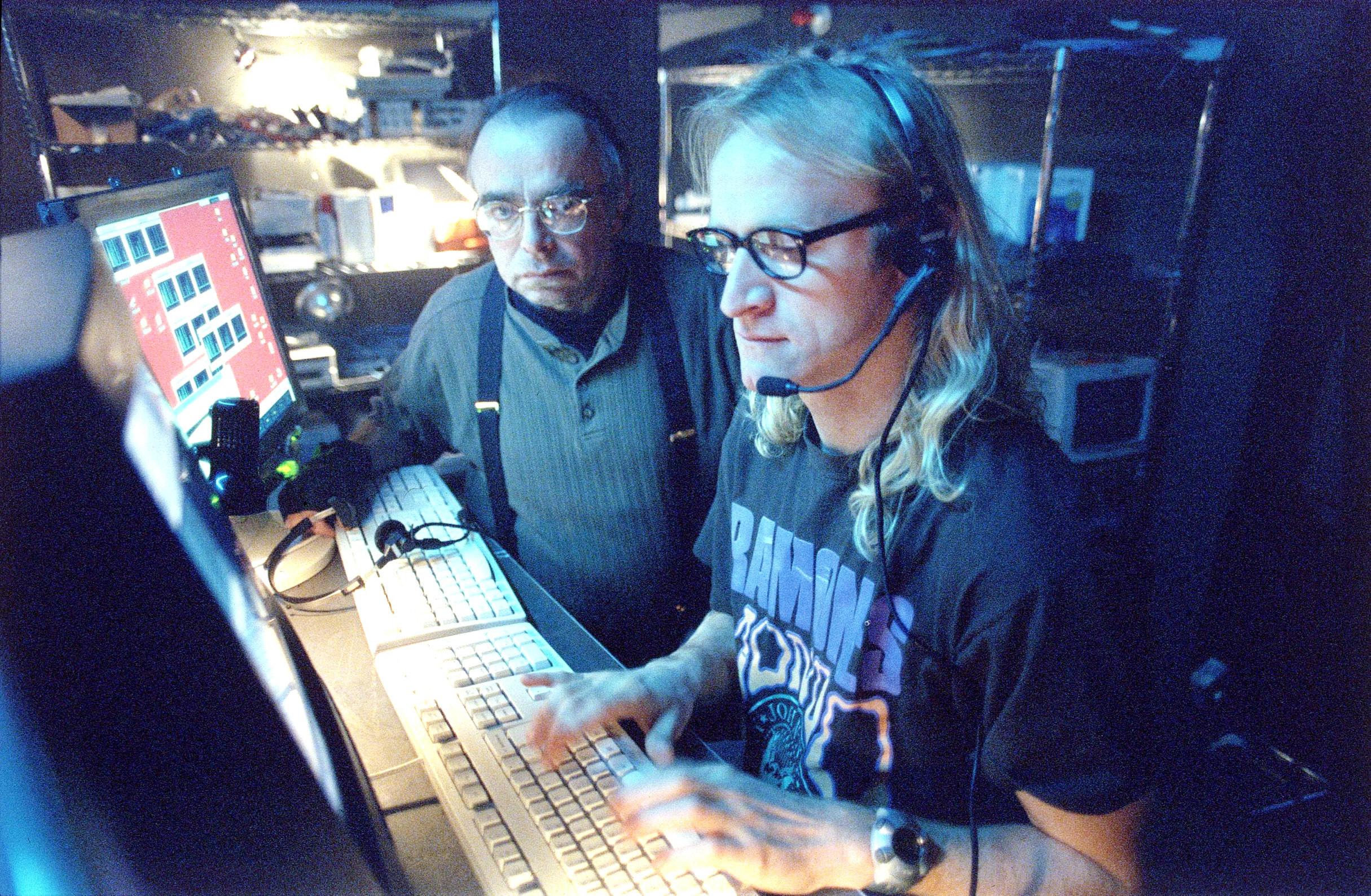 Melvin and Richard at a computer