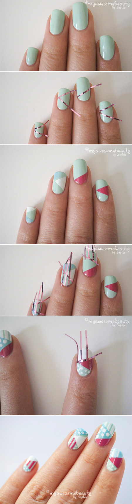 Nail Designs Made With Tape
