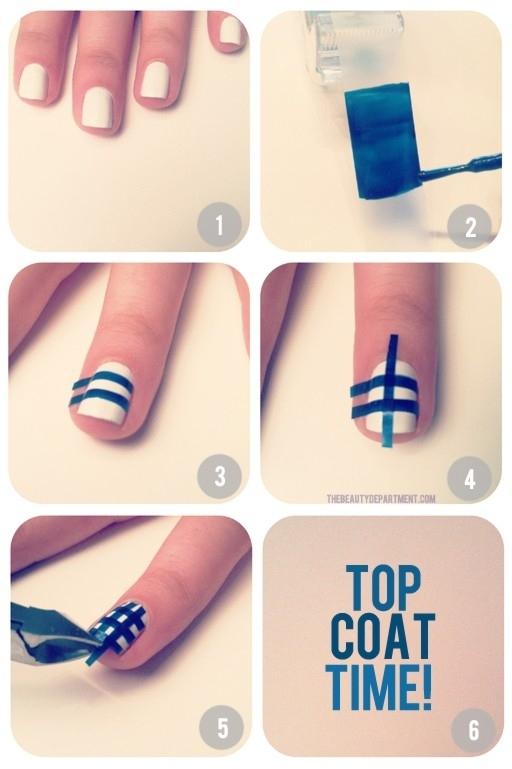 Gingham Plaid Nails