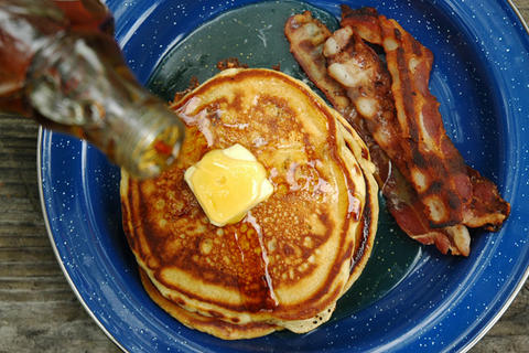 Beer. Pancakes. I might not even wait for my next camping trip to make these. Recipe here.