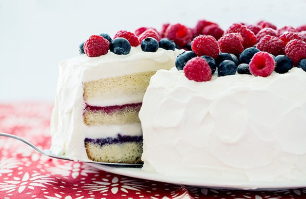 Red, White & Blue Ice Cream Cake