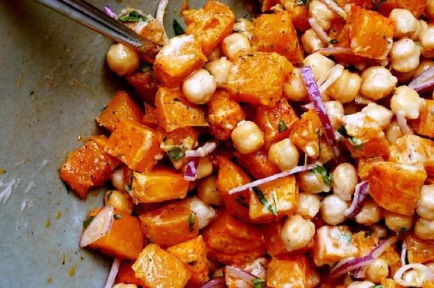 Wednesday Dinner: Warm Butternut & Chickpea Salad