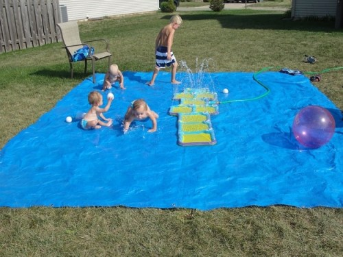 But actually, this DIY splash pad made from a tarp is even cheaper.