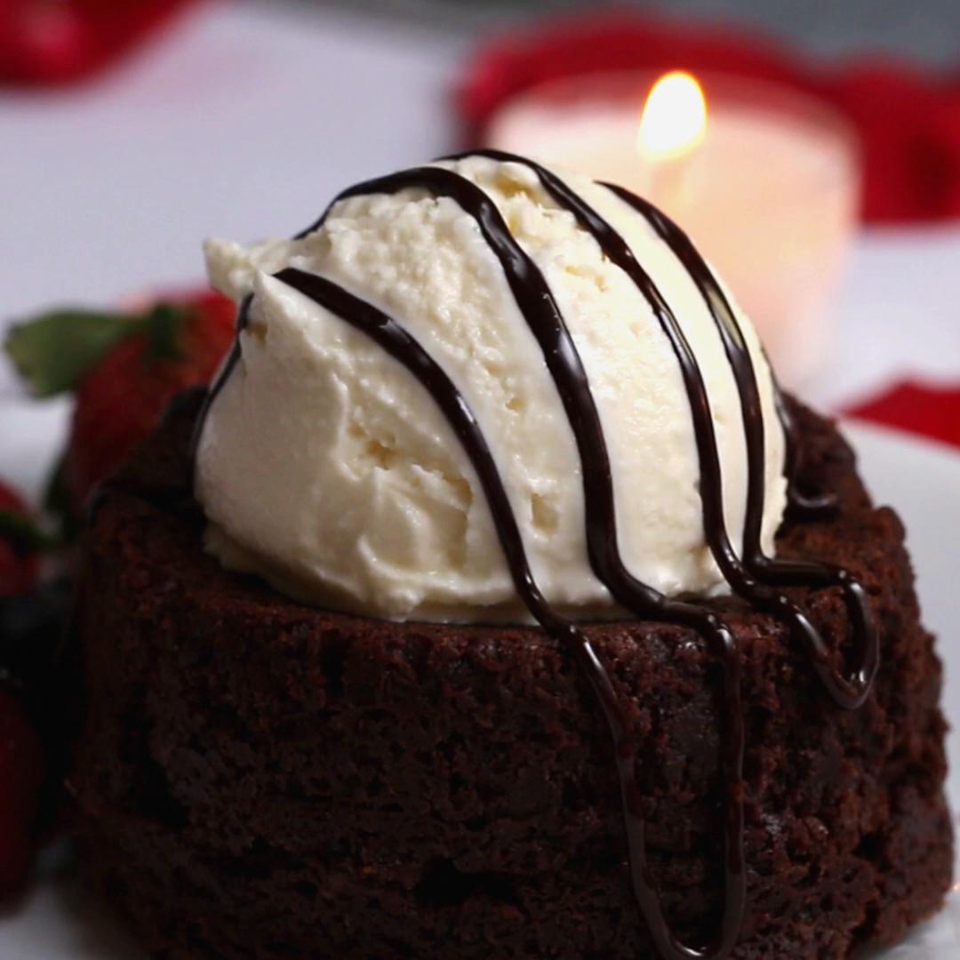 Molten Lava Brownie Recipe By Tasty