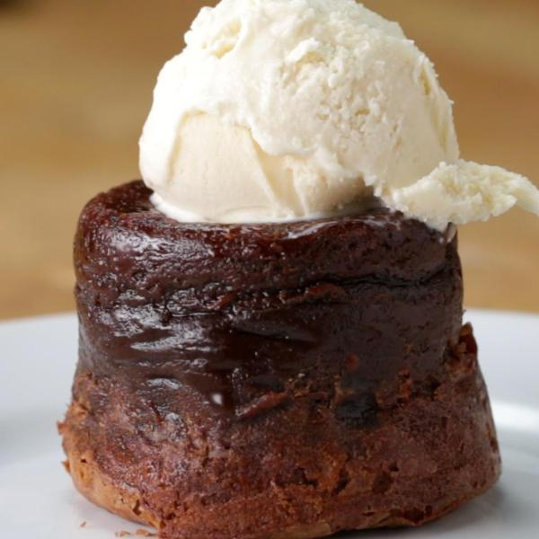 Roy's Classic Melting Hot Chocolate Souffle Recipe by Tasty