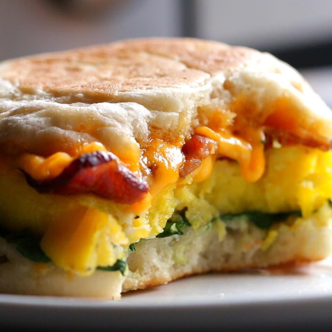 microwave prep breakfast sandwiches recipe by tasty