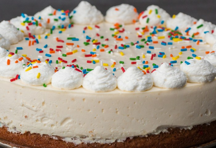 Birthday Box Cake Bottom Cheesecake Recipe By Tasty