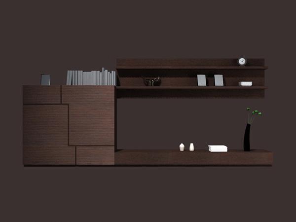 Living Room Cabinet Wall Units 3d Model 3dsmax Files Free
