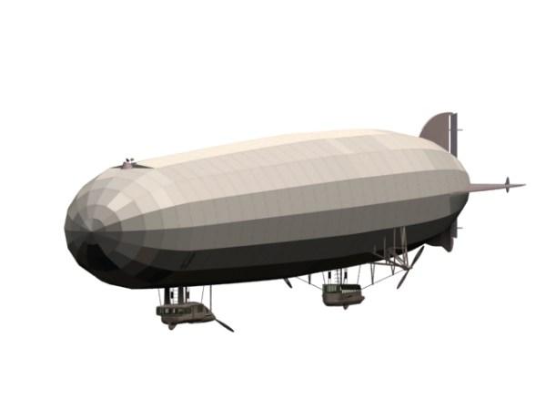German Zeppelin rigid airship 3d model 3dsmax files free ...