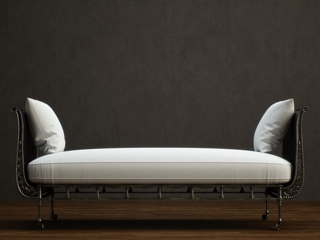 Antique Metal Base Day Bed 3d Model 3dsmax Files Free