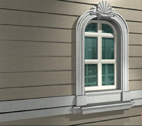 Arch Fixed Window With Wedge Lintel 3d Model 3dsmax Files