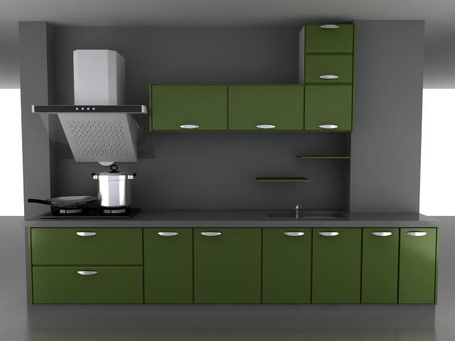 Green kitchen cabinet 3d model 3dsMax files free download ... on Modern:8-Rtxafges8= Model Kitchen  id=96644