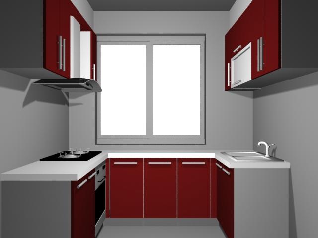 Small U-kitchen design 3d model 3dsMax files free download ... on Modern:8-Rtxafges8= Model Kitchen  id=66653