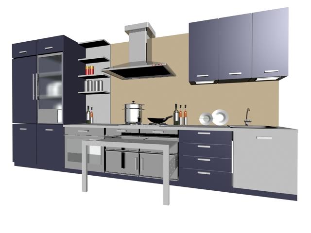 Single line kitchen cabinet 3d model 3dsMax files free ... on Modern:8-Rtxafges8= Model Kitchen  id=91784