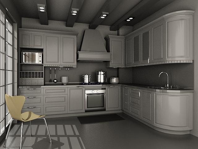 Small kitchen units design 3d model 3dsMax files free ... on Model Kitchen Design  id=20861