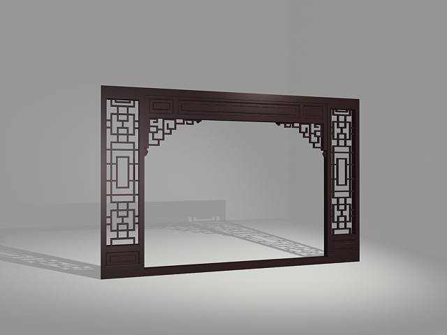 Vintage Decorative Partition Door 3d Model 3dsMax Files