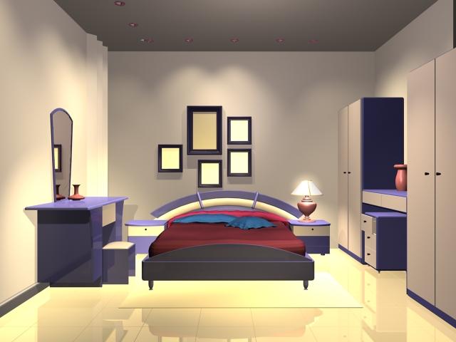 Modern bedroom design 3d model 3dsMax files free download ... on Model Bedroom Design  id=49277