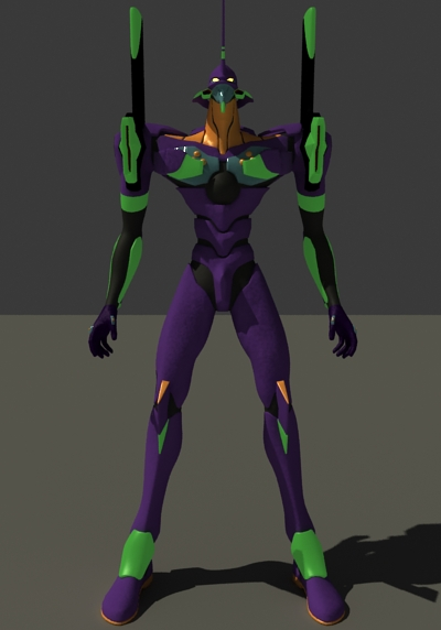 EVA Unit 01 Robot 3d Model 3dsMax Files Free Download