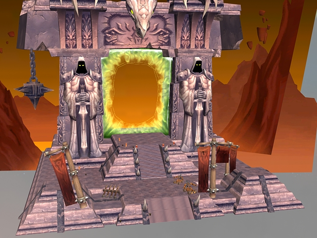 WoW Building Dark Portal Gate 3d Model 3dsMax Files Free