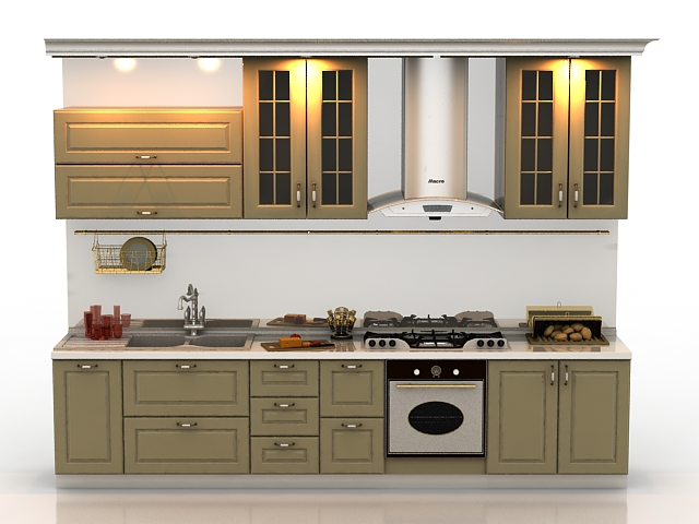 Kitchen design 3d model 3D Studio,3ds max files free ... on Modern:8-Rtxafges8= Model Kitchen  id=13417