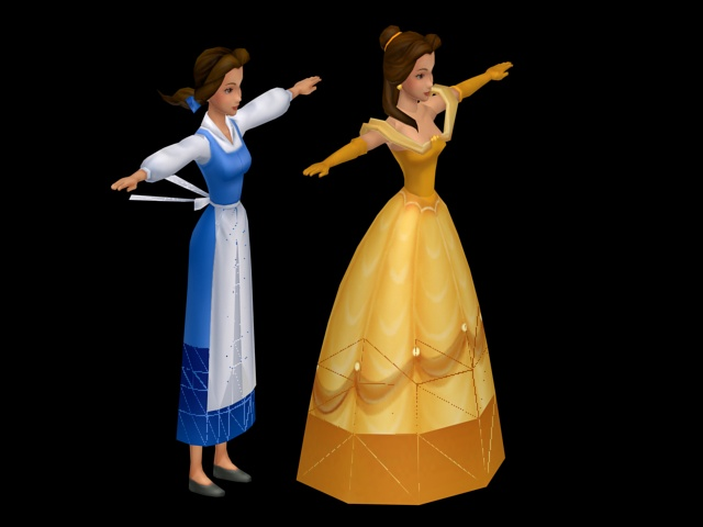 Princess Belle 3d Model 3ds Max Files Free Download