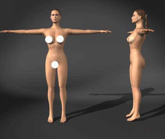 Woman Nude 3d Model