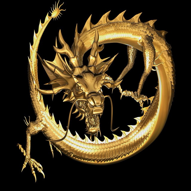 Golden Dragon 3d Model Maya Files Free Download Modeling